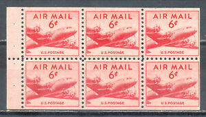 US Stamp (L2057) Scott# C39, Mint NH OG, Nice Booklet Pane, Air Mail