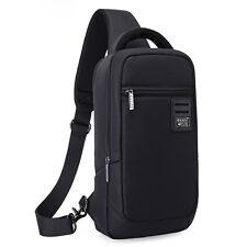 Men Canvas Sling Chest Pack Bag Travel Hiking Cross Body Shoulder Messenger Bag