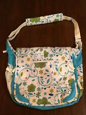 JANSPORT Turquoise Floral College Full Size Messenger Shoulder Laptop bag #115