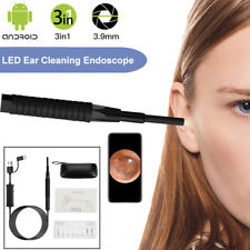 3 In 1 3.9MM Ear Cleaning Endoscope USB Ear Spoon Borescope HD For PC Android