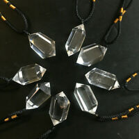 Natural Clear Quartz Crystal Pendulum Pendant Necklace Chakra Gemstone Healing