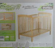 Ateliers T4 Kinderbett 60 x 120  mit 4 Rädern natur (S51A33GL)
