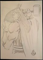 THOR Original Art Commission Sketch Ken Lashley LOKI HULK ODIN AVENGERS ENDGAME