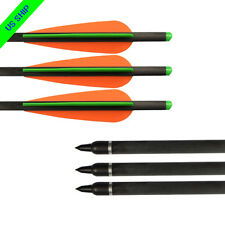 "12X 16"" Hunting Carbon Bolts Crossbow Targets Hunting Shooting Arrows Od 8.8mm"