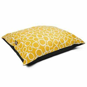 Majestic Pet Fusion Yellow Medium Super Value Dog Bed 35 in. x 28 in