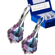 925 Sterling Silver Earrings Baroque Vitrail Light VL Crystals from Swarovski®
