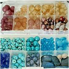 Gemstone Crystal Glass Mixed Beads Lot assorted jewelry supplies- you choose