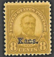 US #666 Mint-Never Hinged ~ 1929  'Kans.' [Kansas] Overprint.......14d
