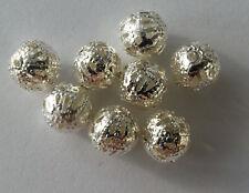 Modeschmuck 20 Metallperle Legierung Perle 8 mm Farbe silber Kettenperlen Kugel