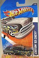 2011 Hot Wheels Kmart Exclusive #91 Heat Fleet 1/10 CUSTOM '53 CHEVY Black w/5Sp