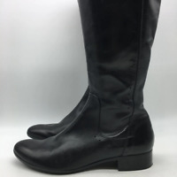 Alberto Fermani Black Tall Leather Boot 10