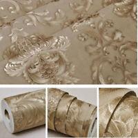 Luxury Victorian Damask Embossed Wallpaper Gold Metallic Wall Textured Paper 10M