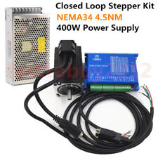 4.5NM NEMA34 Closed-Loop Stepper Motor Hybird DSP Servo Drive+400W Power Supply