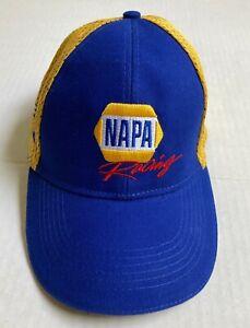 NEW 2021 Chase Elliott NAPA Racing Team Hat Blue Yellow Ltd Edition Signature
