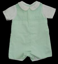 Boys PETIT AMI Light Green Romper 6m Onepiece Shortall Collared Portrait Outfit