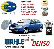 FOR CHEVROLET LACETTI 1.4 2005->ON OIL AIR FUEL POLLEN FILTER SPARK PLUGS SEVICE