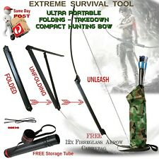 TAKEDOWN FOLDING HUNTING ARCHERY BOW,  TACTICAL SURVIVAL TOOL CAMPING CARAVAN