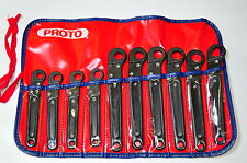 Proto J3895M 10 Piece, 12 Point Metric Ratcheting Flare Nut Wrench Set 10-19MM