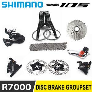 SHIMANO 105 R7000 Groupset Hydraulic Disc Brake Derailleurs Shifter Road Bike