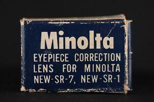 Minolta No.1 Eyepiece Correction Diopter Lens For SR-7 SR-1 Cameras [2340]