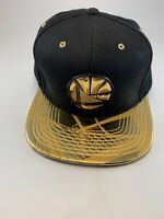 Mitchell & Ness NBA Golden State Warriors Black Gold Snapback Hat Cap NEW