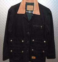 31780 Vintage Womens Ralph Lauren Jean Co Blk Denim BARN Outfitters JACKET Coat