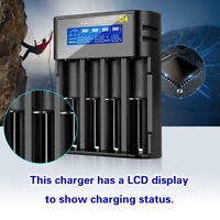 4 Slot Super Battery Charger For AAA lithium 18650 26650 20700 2170 Battery