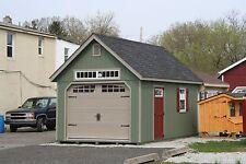 AMISH BUILT 12x24 A-FRAME GARAGE STORAGE SHED WOOD WITH GARDEN ELITE PACKAGE