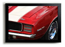 1969 Chevrolet Camaro RS 350 Red Photo Print Poster 13x19 SS Chevy Muscle Car