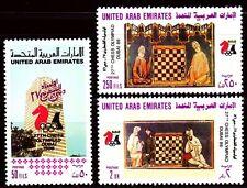 UAE 1986 ** Mi.210/12 Schacholympiade Chess-Olympiad