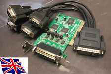 PCI RS422 RS485 4 Serial Port Card 16C1050 Low Profile