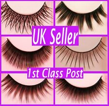 False Fake Eyelashes Individual Lashes Makeup Long Full Thick
