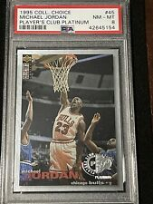 1995-96 UpperDeck CC Basketball MICHAEL JORDAN PLATINUM PLAYERS CLUB NM-MT PSA 8