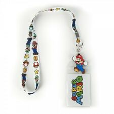 Official Nintendo SUPER MARIO & LUIGI LANYARD 1 Up Power Mushroom Keychain COOL