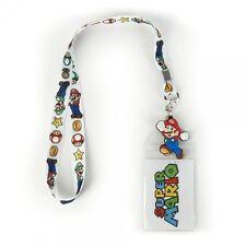Official Nintendo ~MARIO LANYARD~ Mens Video Game Neck ID Badge Holder Key Chain