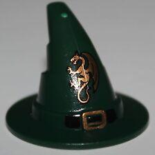 LeGo Castle Dark Green Wizard Hat w/ Dragon Pattern NEW
