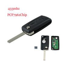 For Citroen C2C3C4 PICASSO C5 Car Remote Alarm Flip Key Fob 433MHz PCF7961 MKLG