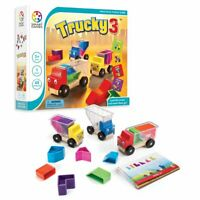 SmartGames Trucky 3 Wooden Puzzle Game + Toy for Ages 3+
