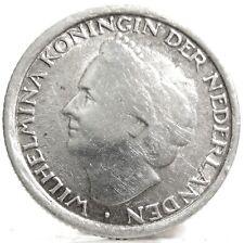 Netherlands CURACAO (Guglielmina I) 1/10 Gulden 1948