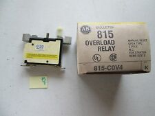 NEW IN BOX ALLEN BRADLEY 815-C0V4 OVERLOAD RELAY SERIES K MANUAL RESET (124)