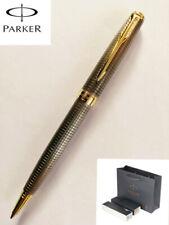 Parker Sonnet Cisele Silver Grid Golden Clip Medium 0.7mm Ballpoint Pen Gift Box
