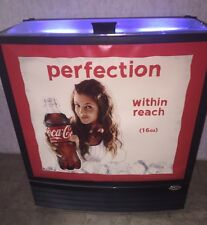 Coca Cola Refrigerated Cooler 1970's Advertising New 16oz Plastic Bottles