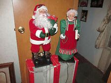 "Holiday Living 25""  Animated MR & MRS  Santa Claus ~"