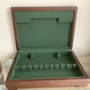 Large Vintage Empty Wooden Cutlery Box For Upcycling Craft Project