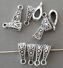 10pc-Silver bails, charm bail,pendant connector,pendant holder, necklace finding