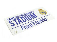 OFFICIAL Real Madrid Metal Street Sign (WHITE)( SANTIAGO BERNABEU )FREE (UK) P+P