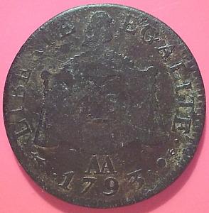 (1010) COIN / PIECE FRANCE LOUIS XVI - 1 SOL AUX BALANCES - 1793 AA : METZ