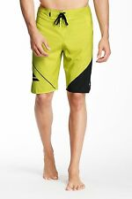 NWT QUIKSILVER New Wave U20 BOARD SHORT Beach Play SWIM TRUNK Black Lime MENS 32
