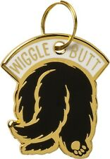 """Primitives by Kathy Wiggle Butt Dog Collar Charm Made of Hard Enamel - 1"""" x 1.2"""""""