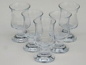 Holmegaard  2 Groggläser Grog Glühwein Glas ungewöhnlicher Stößel 70er Jahre